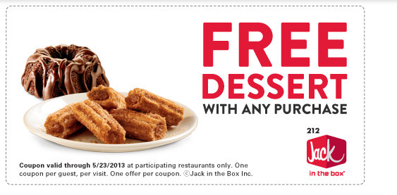 Free Dessert at Jack in the Box